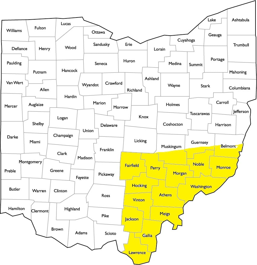 Southeast Ohio