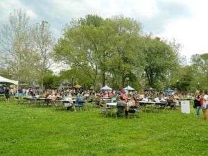 The grounds of the Crafted Festival in Cleveland